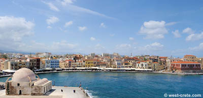 View of Chania harbour